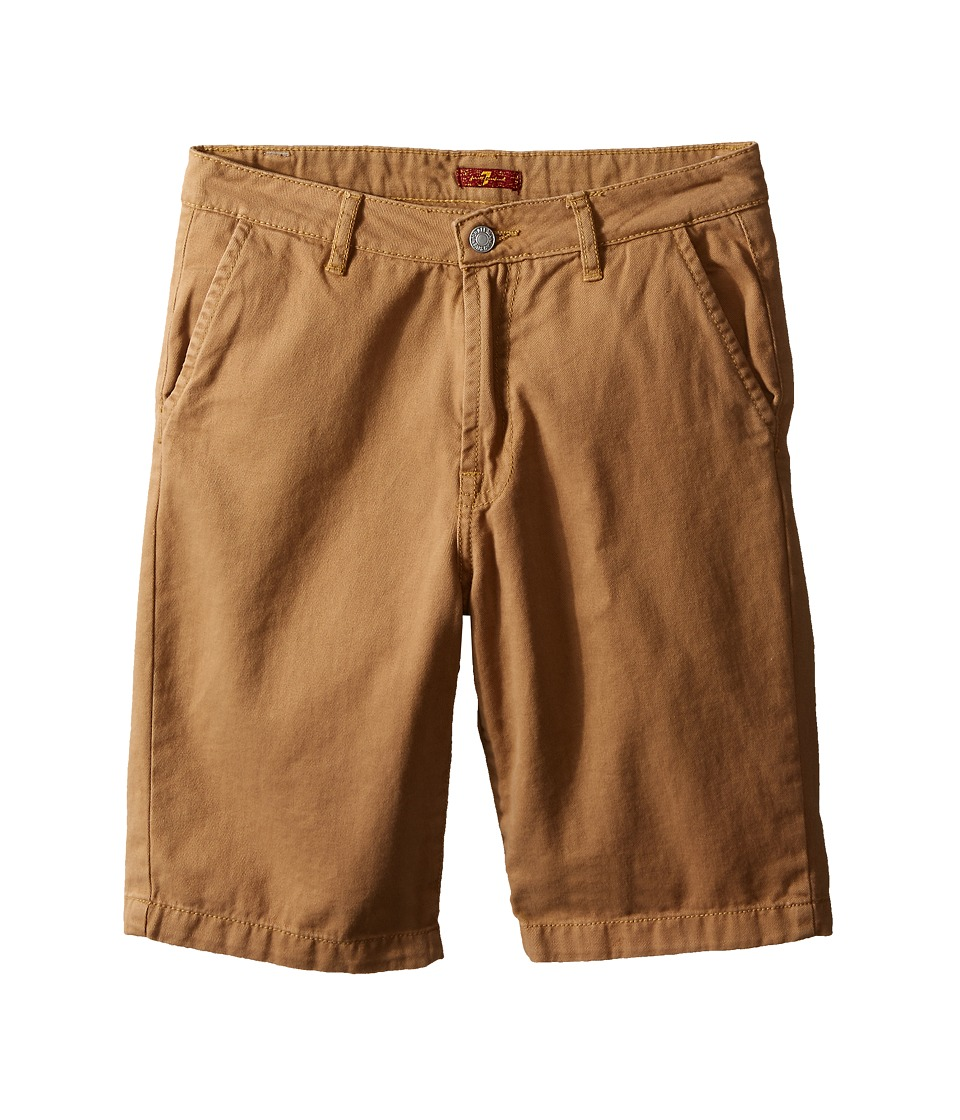 7 For All Mankind Kids - Four-Pocket Classic Twill Shorts (Big Kids) (Khaki) Boy