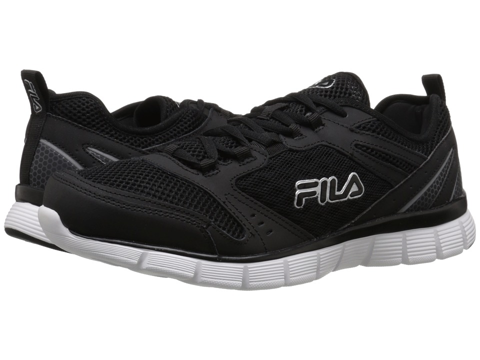 Fila - Memory Deluxe SE (Black/Castlerock/White) Men's Shoes