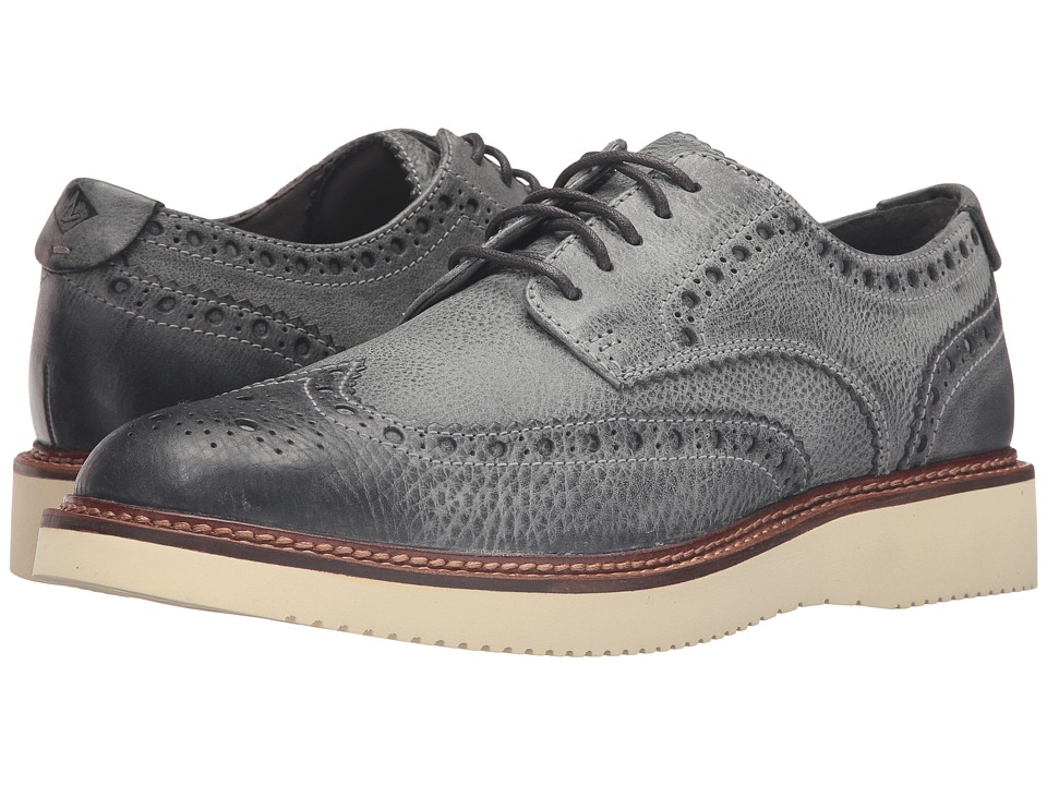 Sperry - Gold Lug Wingtip Brogue Oxford (Grey) Men's Lace Up Wing Tip Shoes
