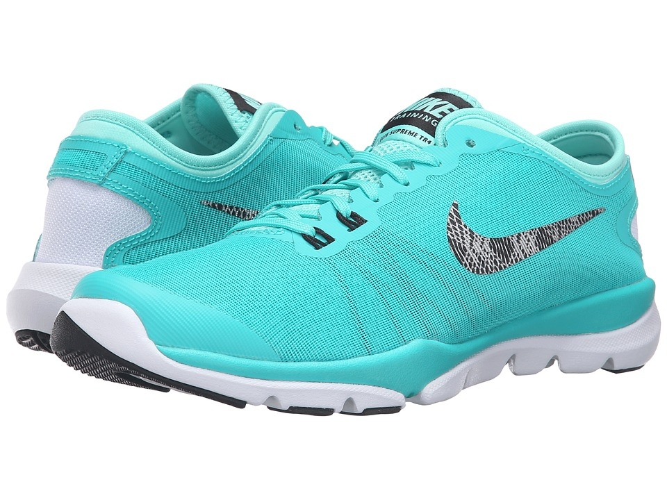 Nike - Flex Supreme TR 4 PR (Hyper Jade/Hyper Turquoise/Black/Metallic Silver) Women's Cross Training Shoes