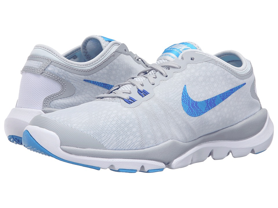 Nike - Flex Supreme TR 4 PR (Pure Platinum/Wolf Grey/Racer Blue/Blue Glow) Women's Cross Training Shoes