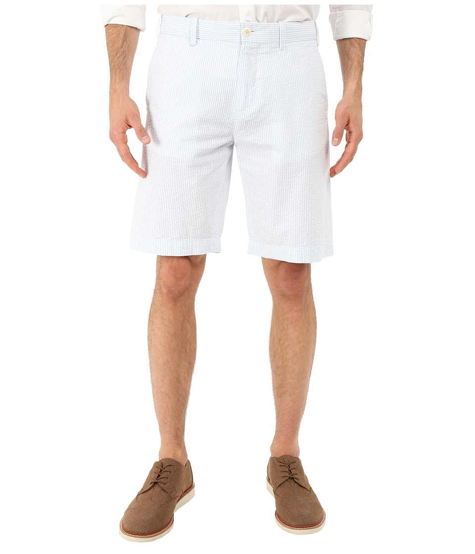 Lacoste - Seersucker Striped Bermuda Short (Atmosphere/White) Men's Shorts
