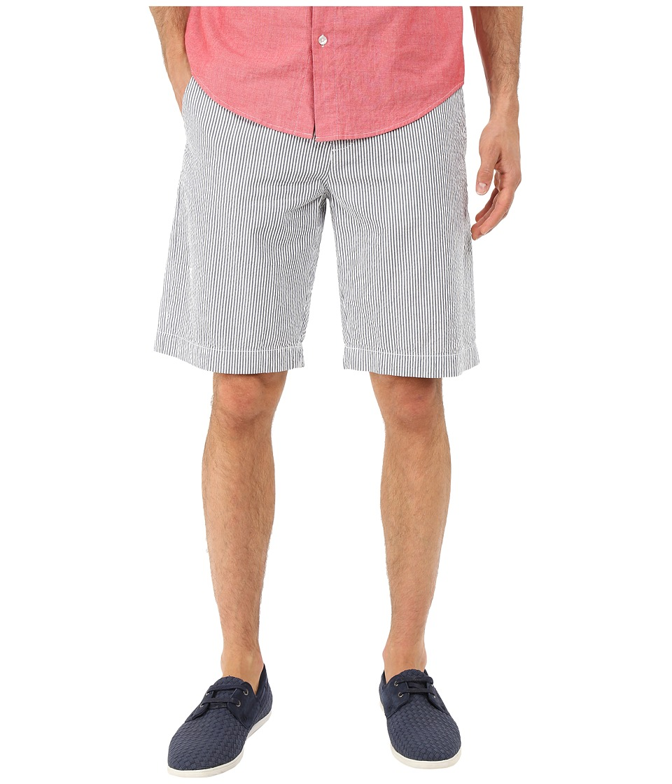 Lacoste - Seersucker Striped Bermuda Short (Philippines Blue/White) Men's Shorts