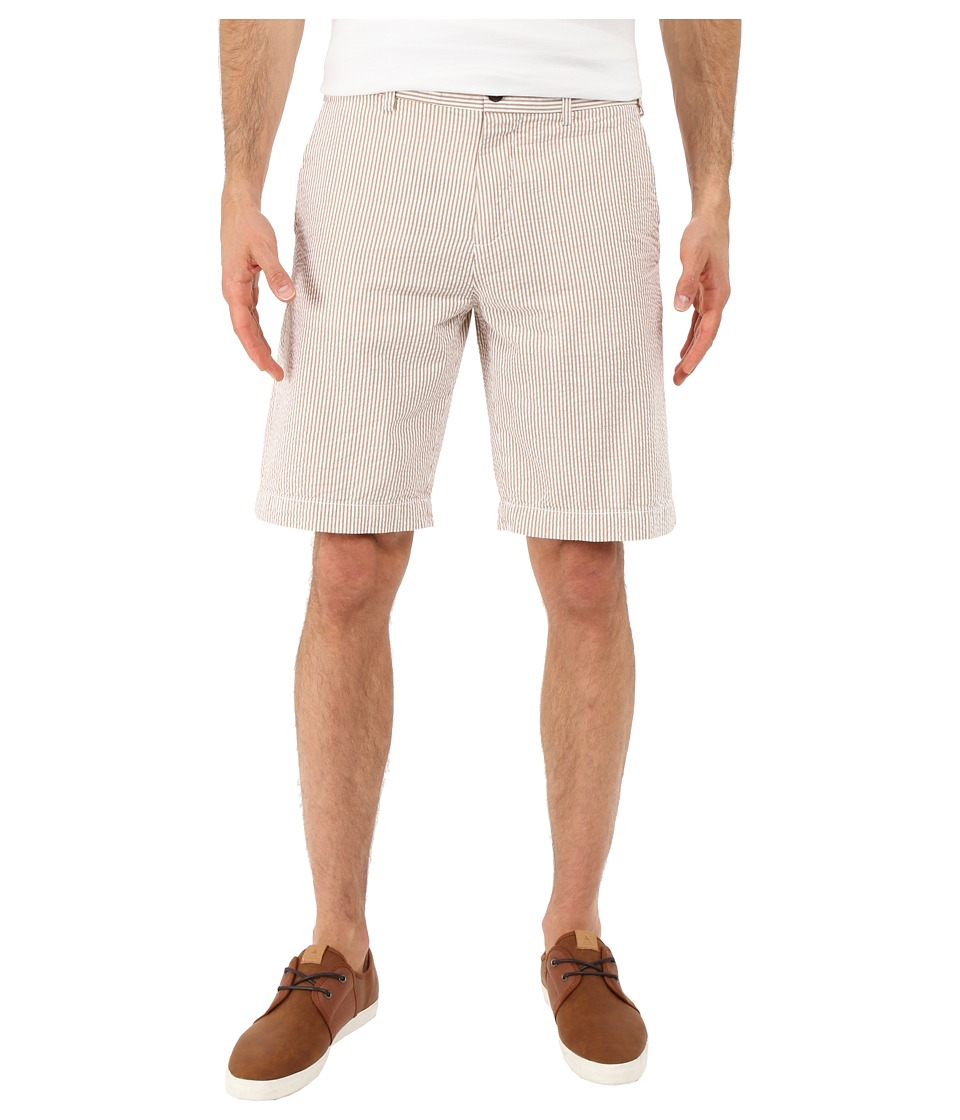 Lacoste - Seersucker Striped Bermuda Short (Far West Beige/White) Men's Shorts