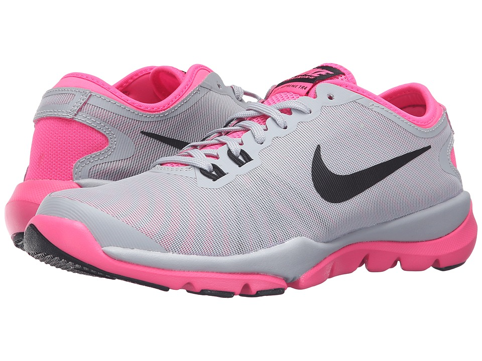 Nike - Flex Supreme TR4 (Wolf Grey/Pink Blast/White/Black) Women's Cross Training Shoes