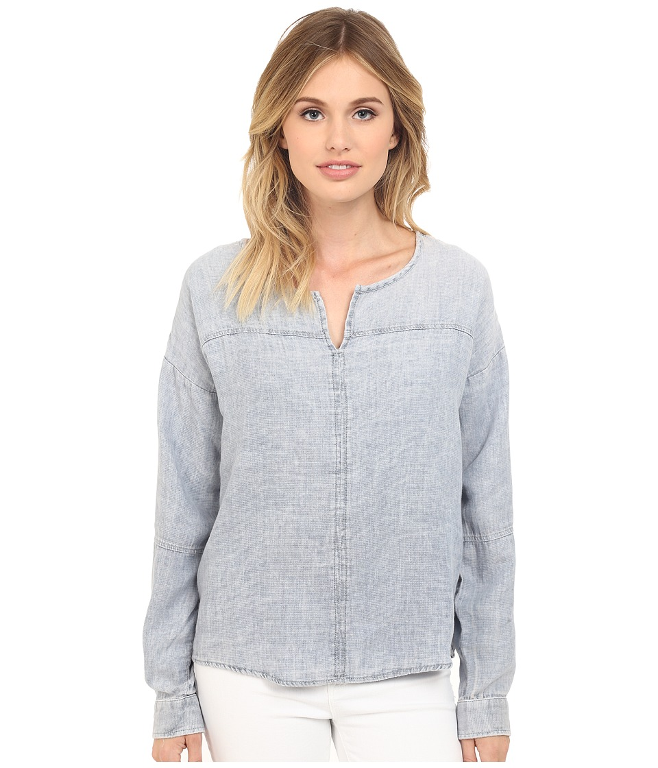 Mavi Jeans - Long Sleeve Blouse (Light Indigo) Women's Blouse