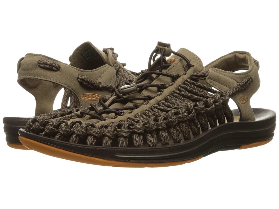 Keen - Uneek Flat (Shitake/Coffee Bean) Men's Shoes