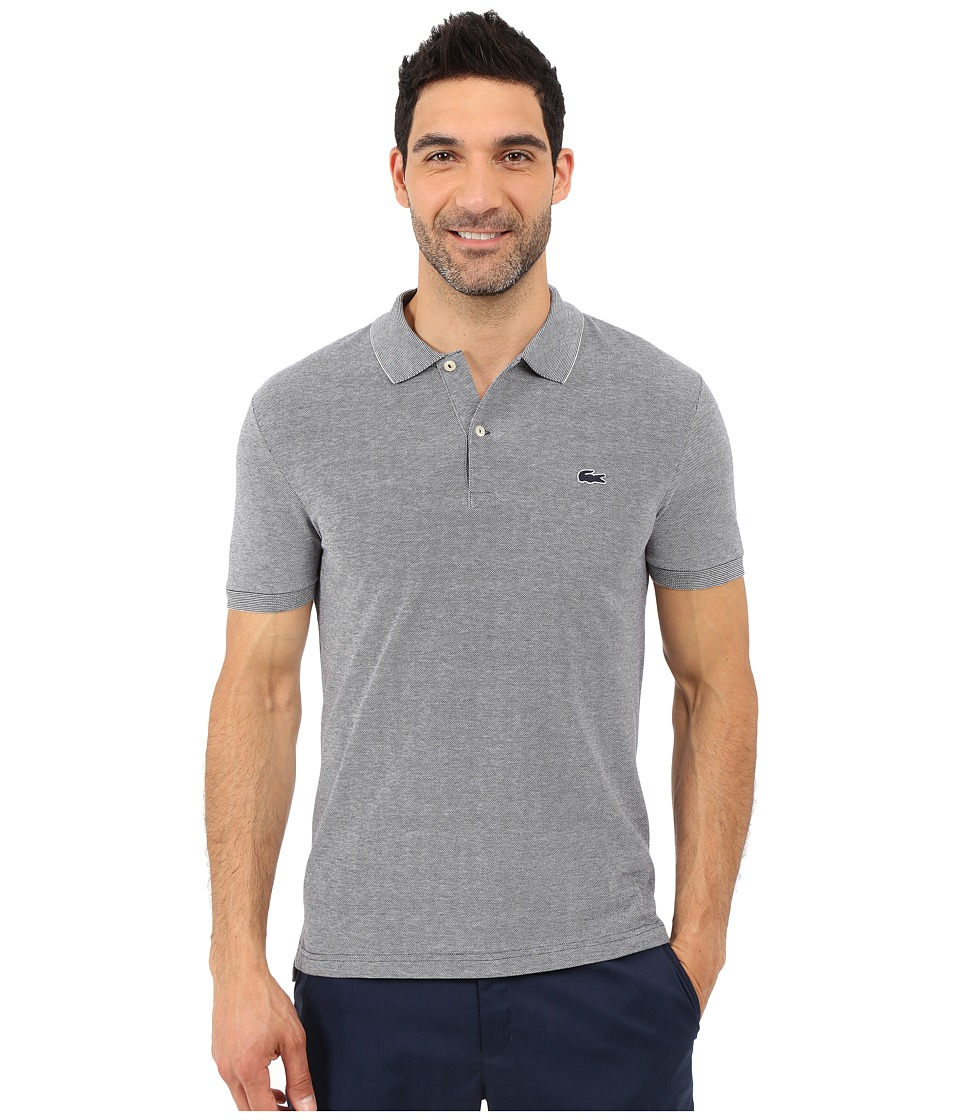 Lacoste - Caviar Piqu Polo Shirt (Navy Blue/Flour) Men's Short Sleeve Pullover