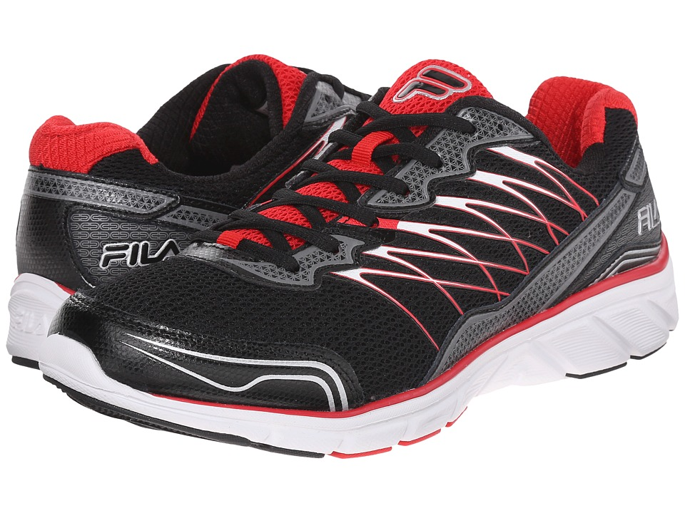 Fila - Countdown 2 (Black/Fila Red/Dark Silver) Men's Shoes