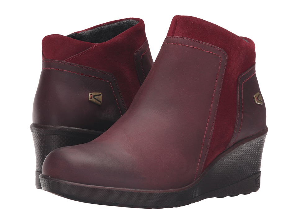 Keen Keen Wedge Zip (Red Dahlia/Rather Do Black) Women