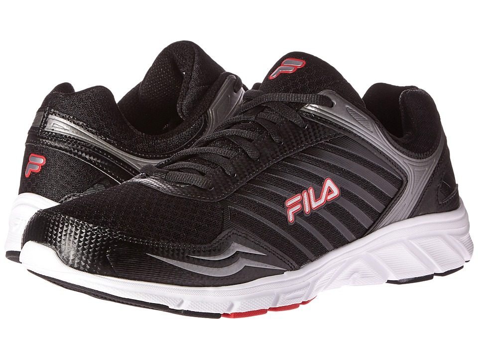 Fila - Gamble (Black/Metallic Silver/Fila Red) Men's Shoes
