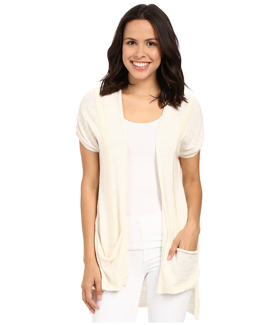 Mavi Jeans - Cap Sleeve Pocket Sweater (Antique White) Women's Sweater