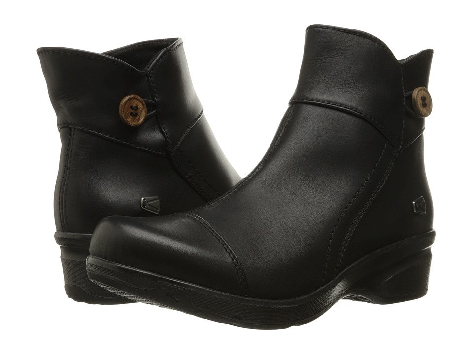 Keen - Mora Mid Button (Black) Women's Shoes