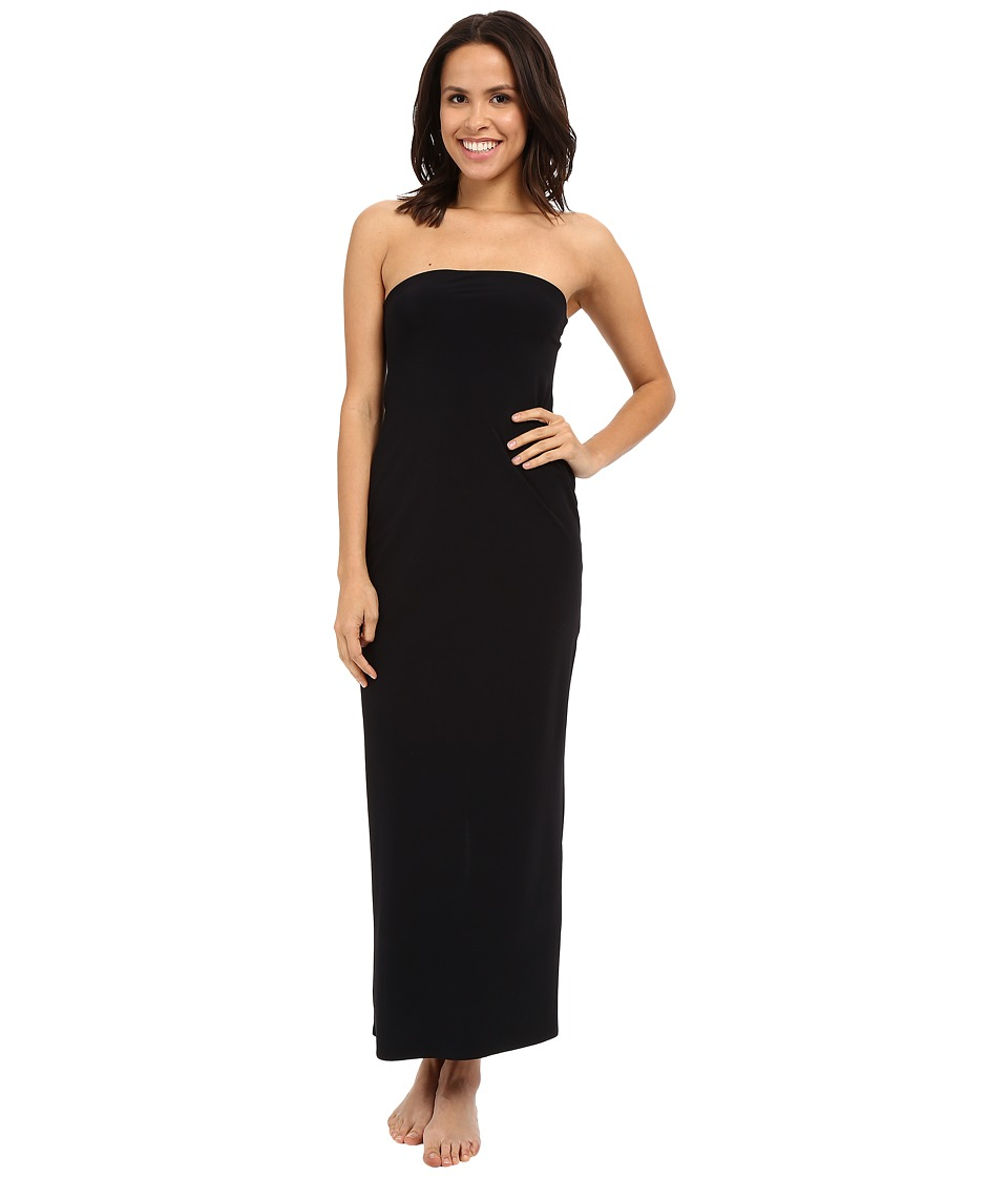 Commando - The Strapless Maxi Slip DS2 (Black) Women's Dress