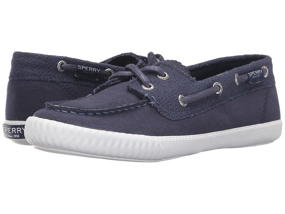 Sperry - Sayel Away Perf Canvas (Navy) Women's Lace Up Moc Toe Shoes