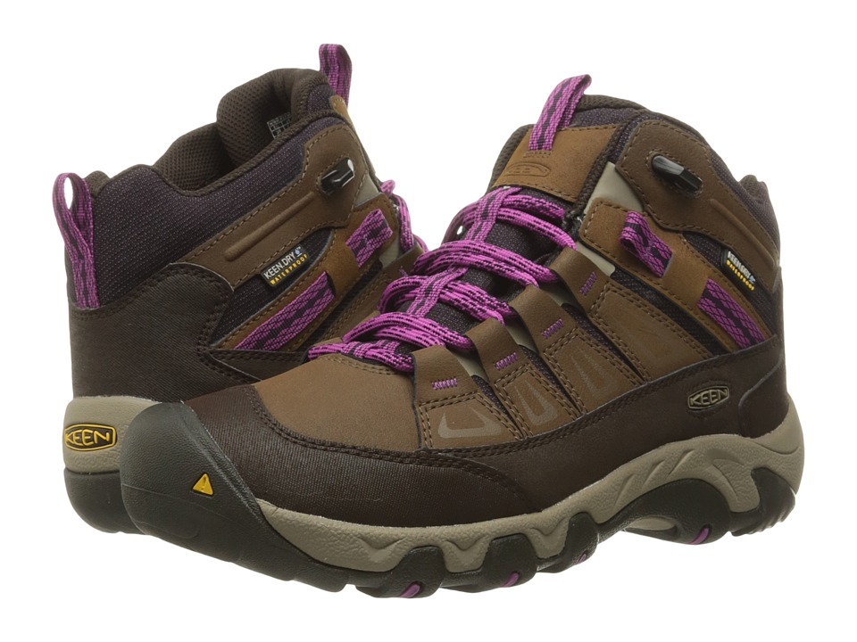 Keen - Oakridge Mid Polar (Dark Earth/Plum) Women's Shoes