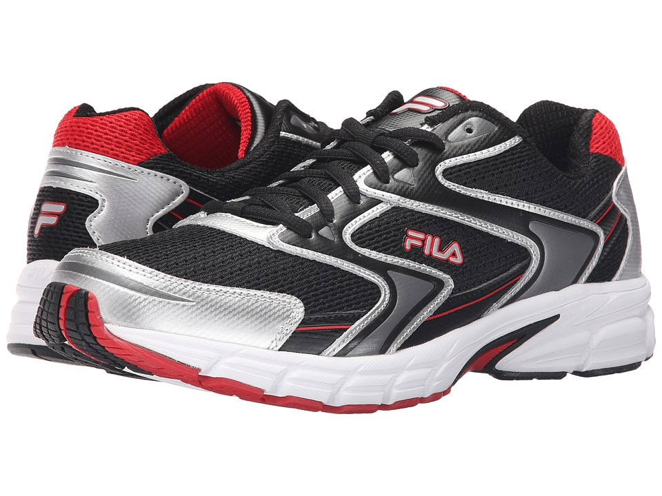 Fila Xtent 3 (Black/Metallic Silver/Fila Red) Men