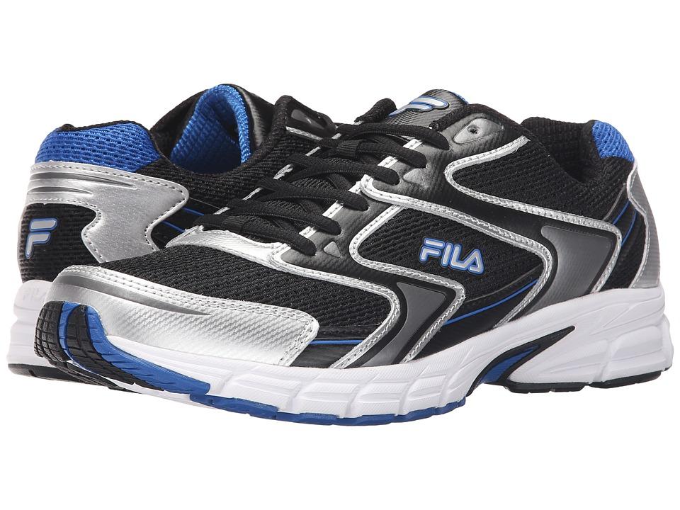 Fila - Xtent 3 (Black/Metallic Silver/Prince Blue) Men's Shoes