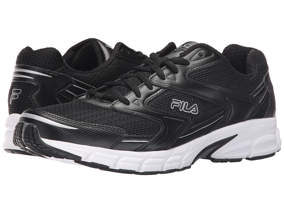 Fila Xtent 3 (Black/Black/Metallic Silver) Men