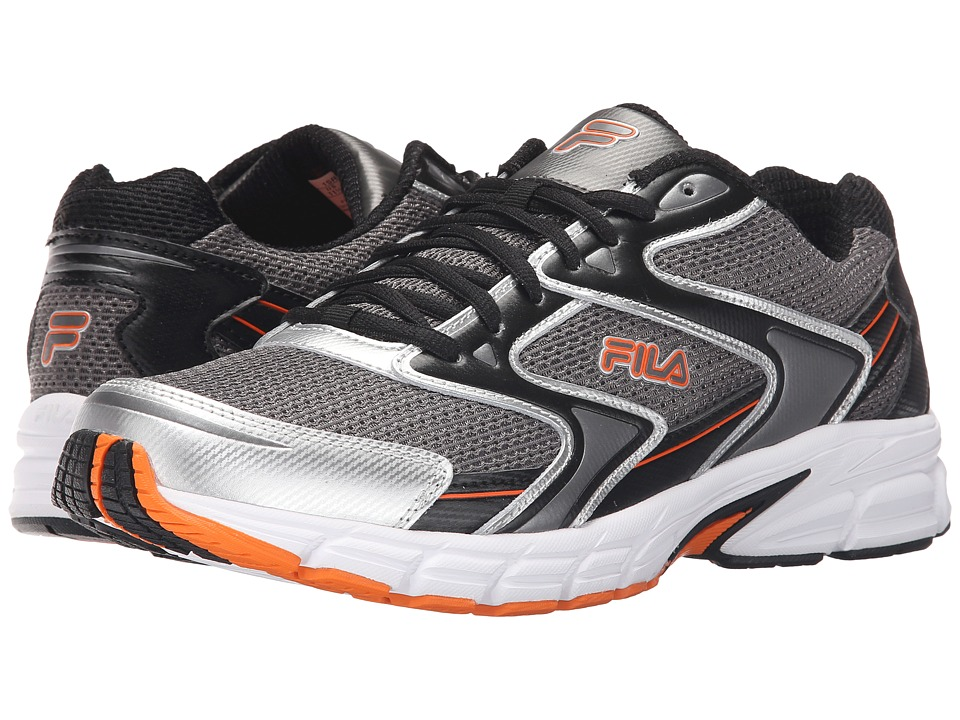 Fila - Xtent 3 (Dark Silver/Black/Vibrant Orange) Men's Shoes