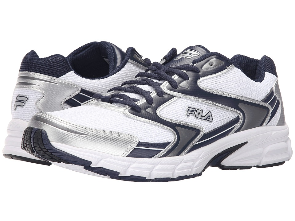 Fila Xtent 3 (White/Fila Navy/Metallic Silver) Men