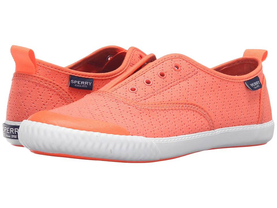 Sperry Top-Sider Sayel Clew Perf Canvas (Bright Coral) Women