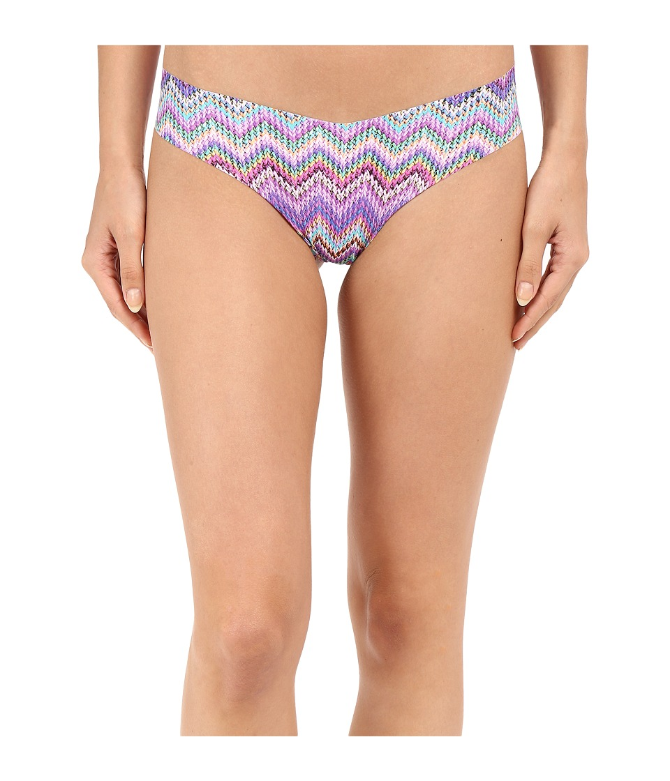 Commando - Print Thong CT02 (Knit Zags Pink) Women's Underwear