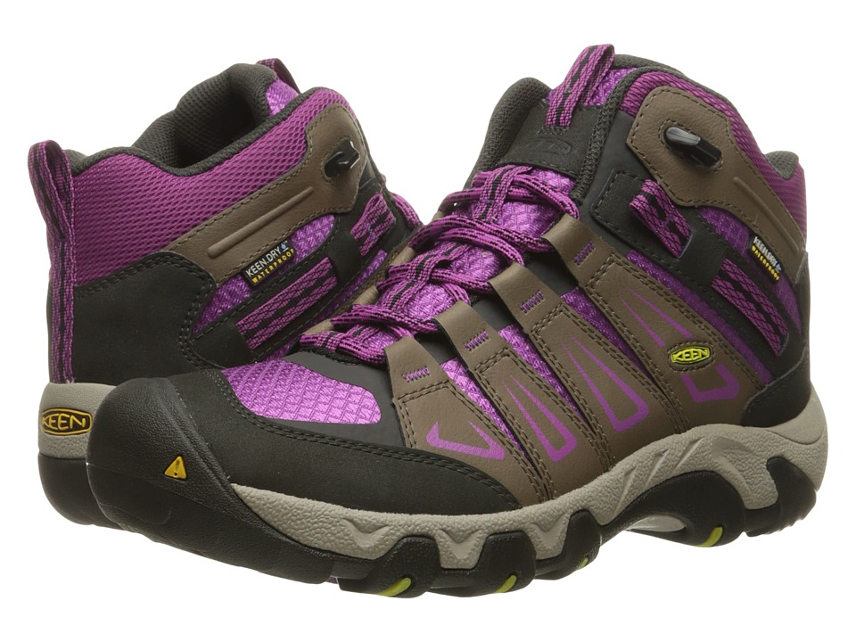 Keen - Oakridge Mid Waterproof (Shitake/Viola) Women's Waterproof Boots