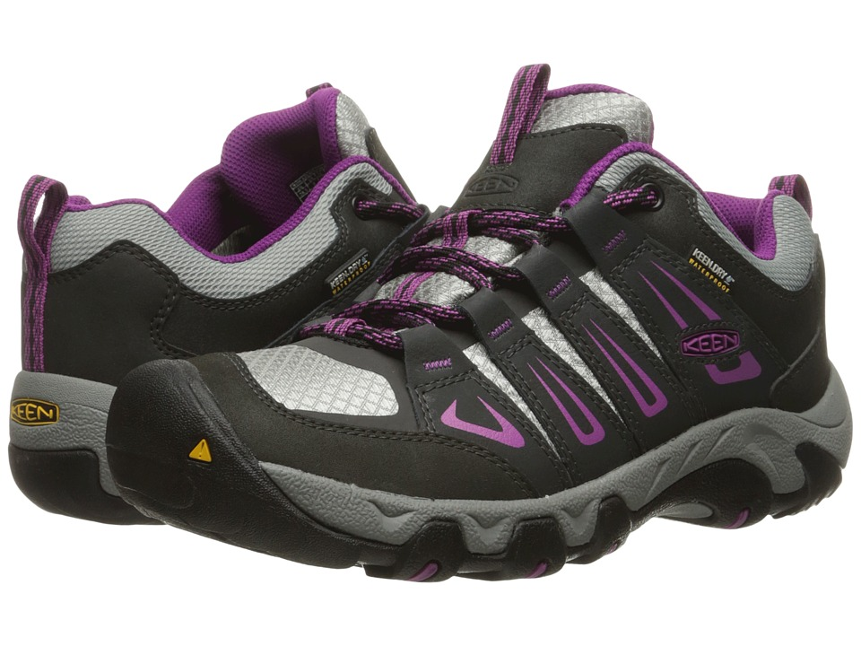 Keen - Oakridge Waterproof (Raven/Viola) Women's Waterproof Boots