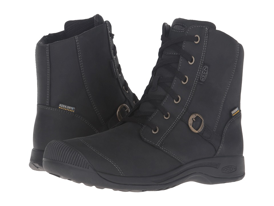 Keen - Reisen Zip Waterproof FG (Black) Women's Waterproof Boots