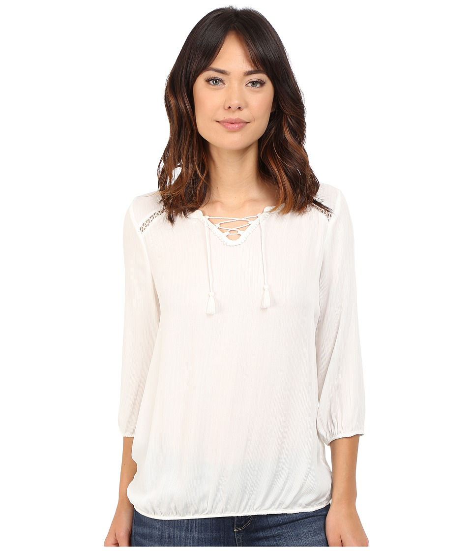 Mavi Jeans - Long Sleeve Blouse (Antique White) Women's Blouse