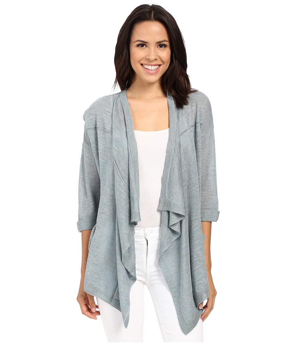 Mavi Jeans - Open Front Cardigan (Nile Blue) Women's Sweater