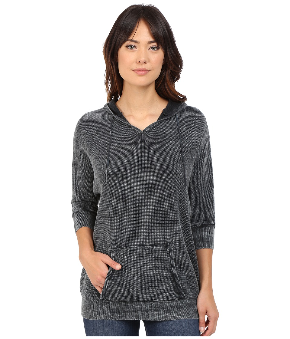 Mavi Jeans - Hooded Sweatshirt (Black) Women's Sweatshirt