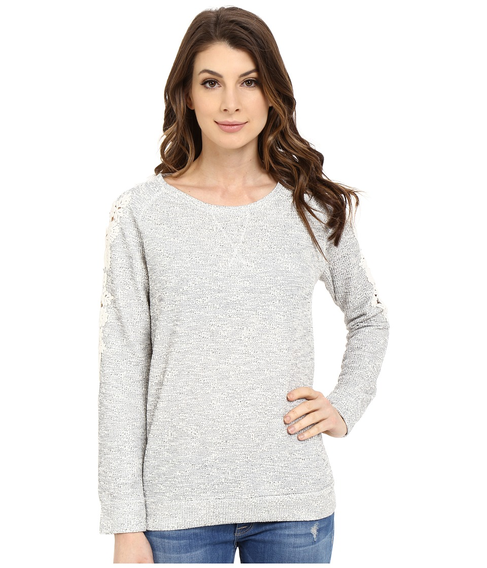 Mavi Jeans - Lace Detailed Sweater (Grey Melange) Women's Sweater
