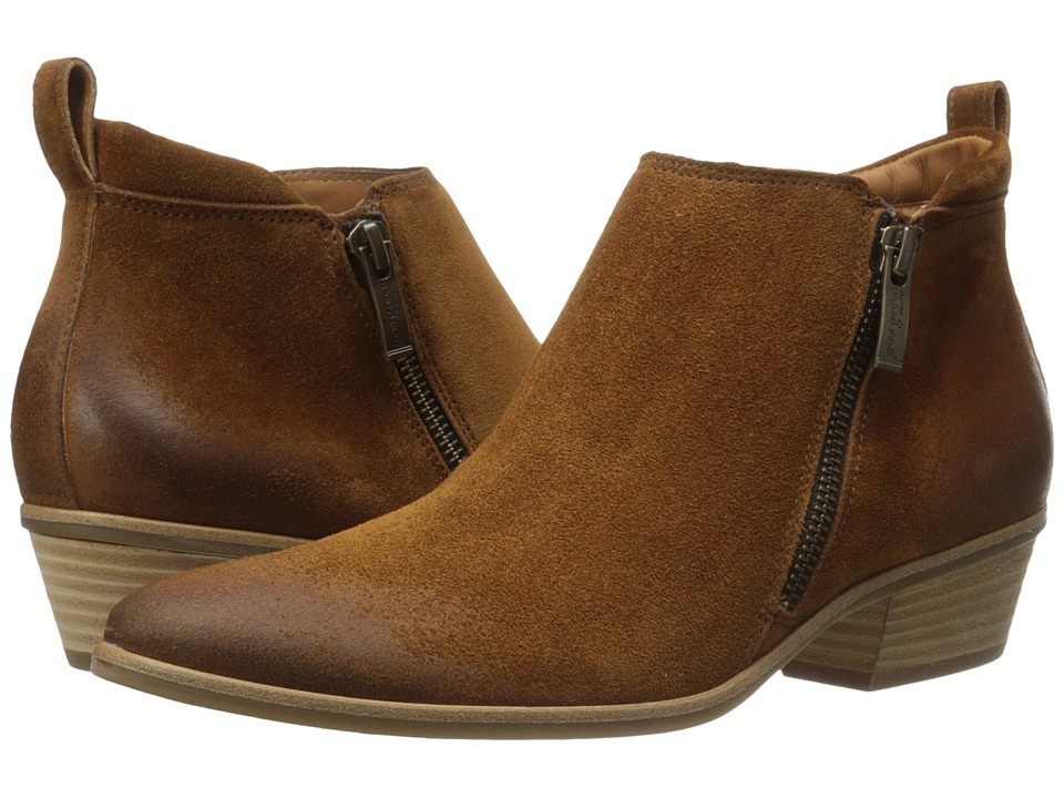 Paul Green Jillian Bootie (Cognac Suede) Women