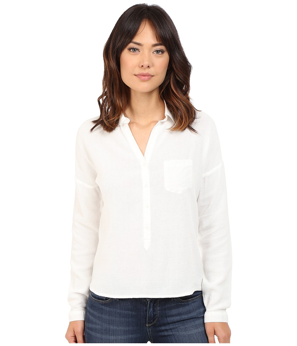 Mavi Jeans - Pocket Blouse (Antique White) Women's Blouse