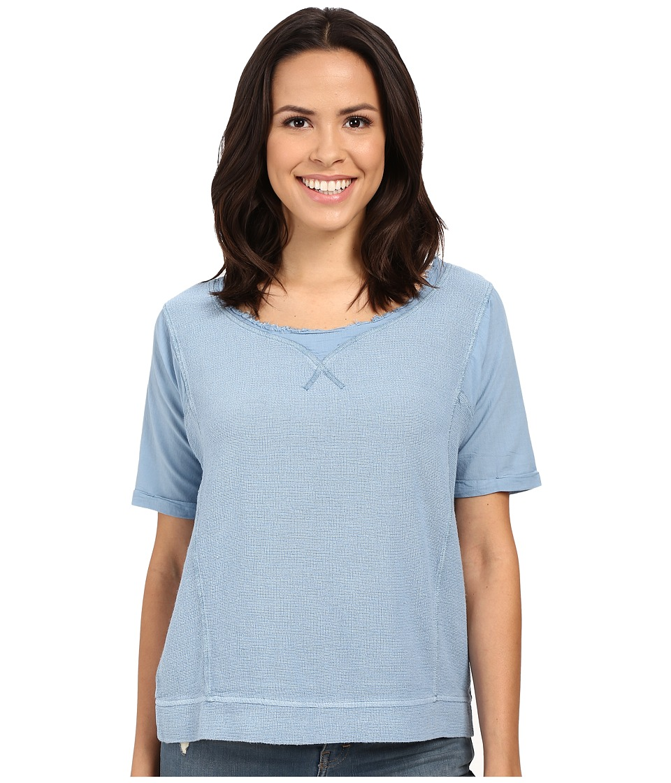 Mavi Jeans - Short Sleeve Blouse (Pacific Blue) Women's Blouse