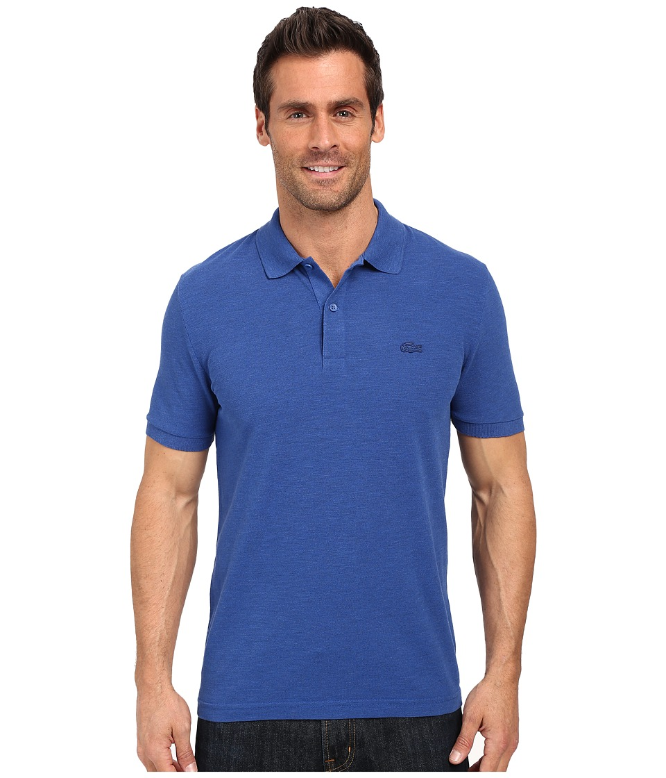 Lacoste - Short Sleeve Garment Dyed Slub Pique Polo Shirt (Sailboat Dyed) Men's Short Sleeve Pullover