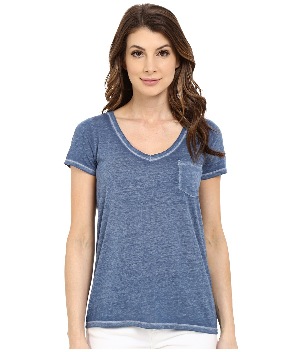 Mavi Jeans - V-Neck Top (Ensign Blue) Women's Clothing