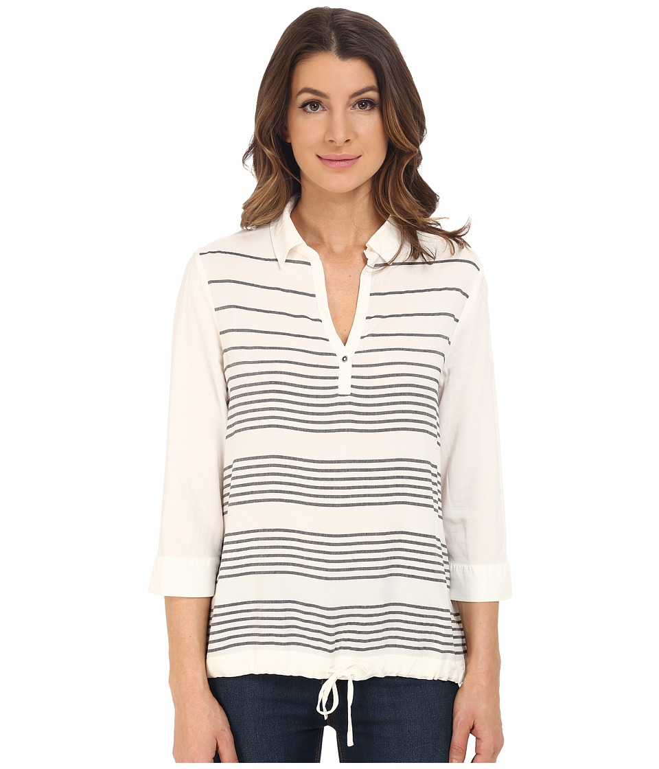 Mavi Jeans - Striped Blouse (Antique White Striped) Women's Blouse