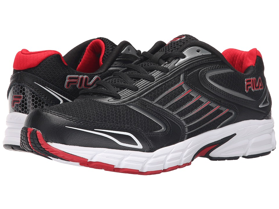 Fila - Dynamo (Black/Fila Red/Dark Silver) Men's Shoes