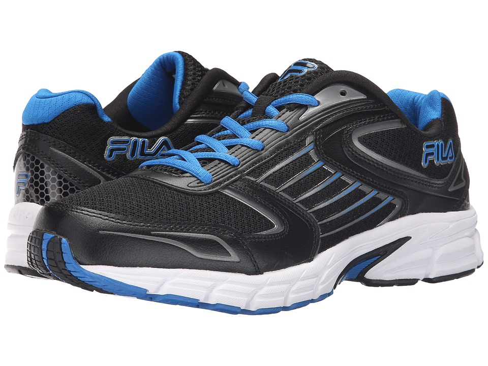 Fila - Dynamo (Black/Electric Blue/Dark Silver) Men's Shoes
