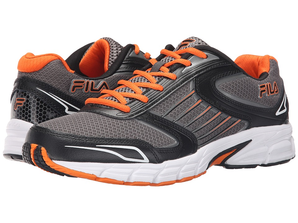 Fila - Dynamo (Dark Silver/Black/Vibrant Orange) Men's Shoes