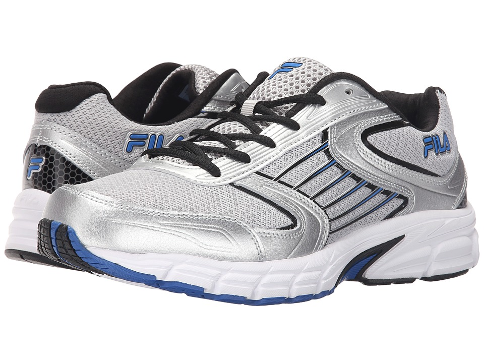 Fila - Dynamo (Metallic Silver/Black/Prince Blue) Men's Shoes