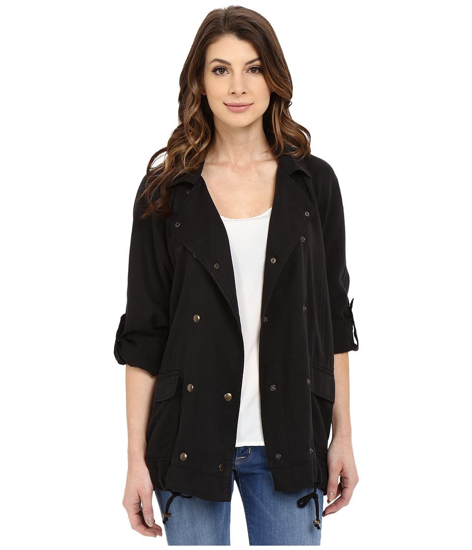 Mavi Jeans - Folded Sleeve Jacket (Black) Women's Coat
