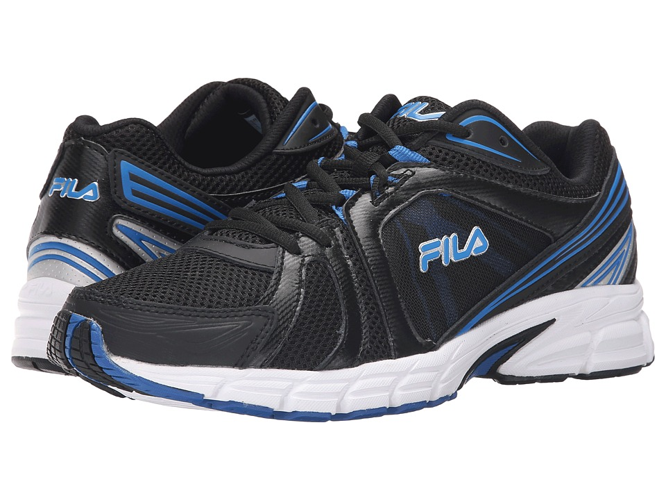 Fila - Gravion (Black/Electric Blee/Metallic Silver) Men's Shoes
