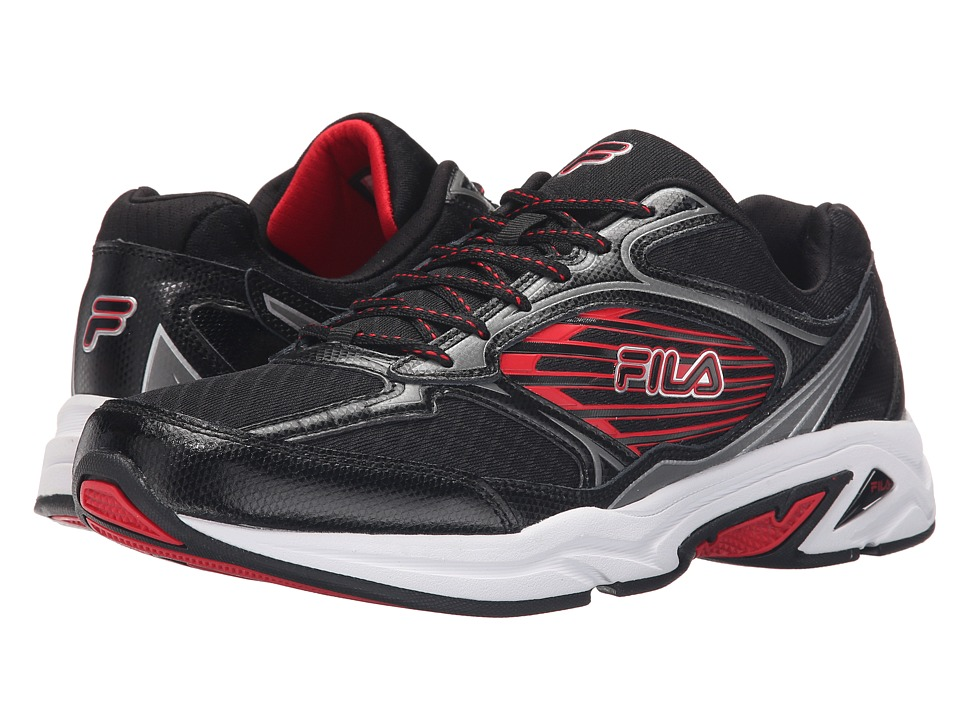Fila Inspell 3 (Black/Dark Silver/Fila Red) Men