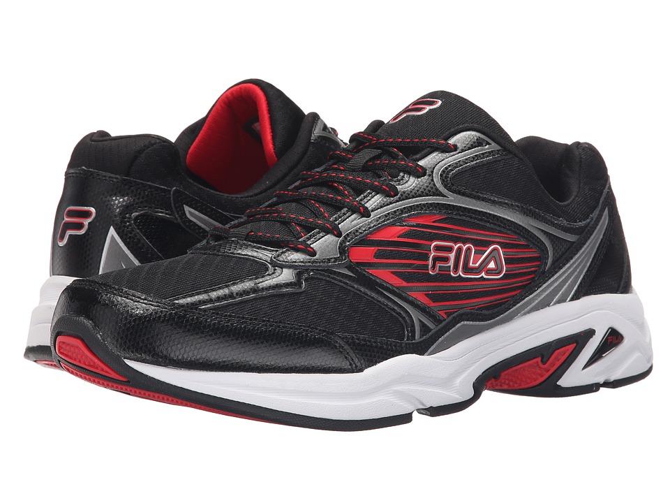Fila - Inspell 3 (Black/Dark Silver/Fila Red) Men's Shoes