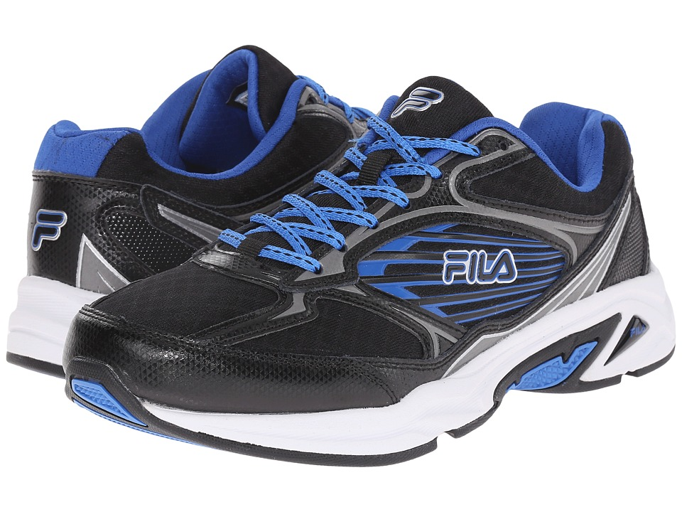 Fila - Inspell 3 (Black/Dark Silver/Prince Blue) Men's Shoes