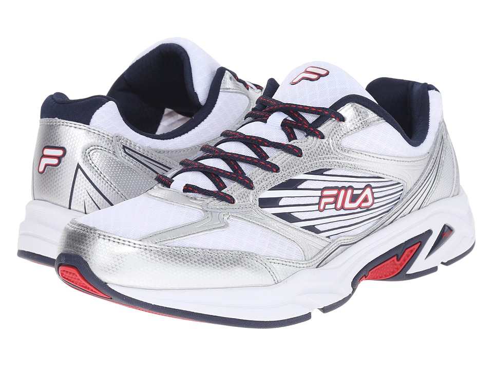 Fila - Inspell 3 (White/Fila Navy/Fila Red) Men's Shoes